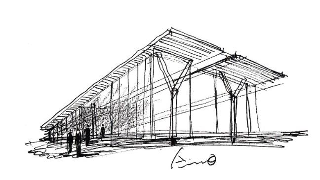 croquis-de-arquitetos-famosos-tadao-ando-museu-de-fortworth
