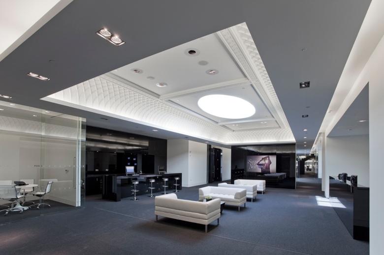 Tipos de iluminação: Iluminação indireta em escritório