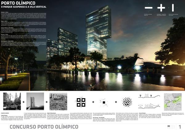 Prancha de arquitetura: Concurso Porto Olímpico