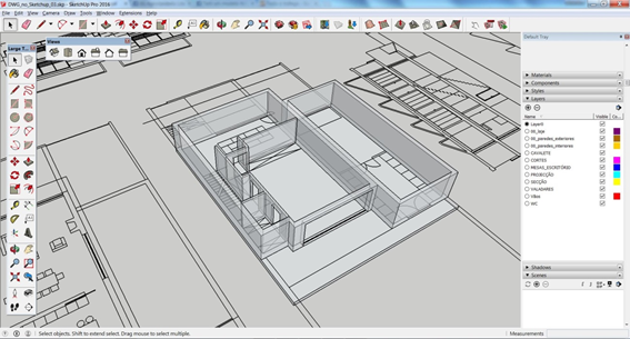 Importar-dwg-para-sketchup-modelo-cad-importado-para-SketchUp