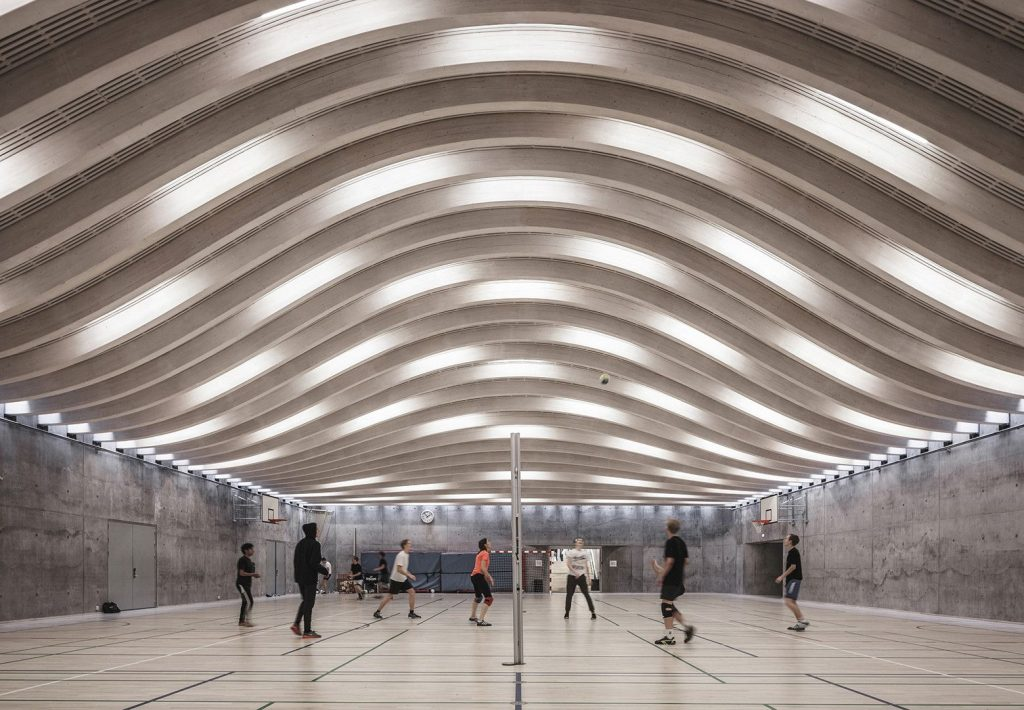 arquitetura-esportiva-Gammel-Hellerup-quadra