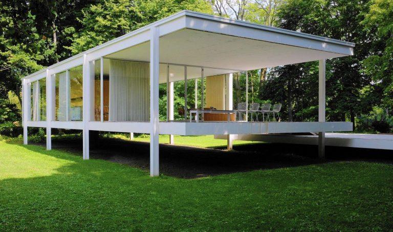 arquitetura-moderna-casa-farnsworth-lateral