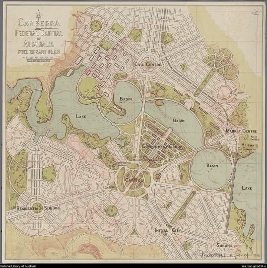 cidades-planejadas-no-mundo-plano-preliminar-camberra-1913