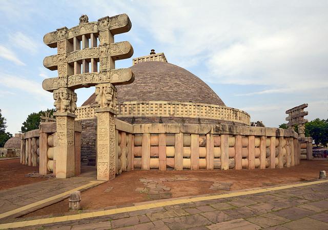 arquitetura-indiana-stupa-sanchi