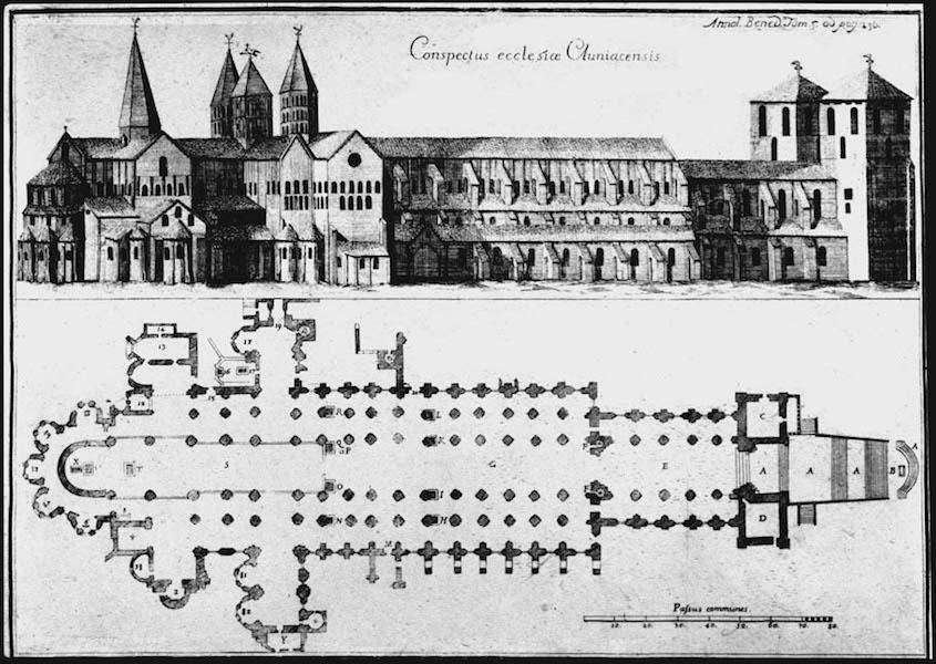 arquitetura-medieval-abadia-de-cluny