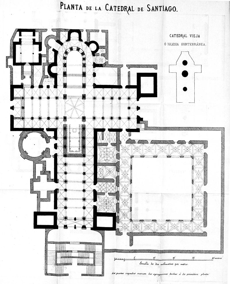 arquitetura-medieval-santiago-de-compostela-estilo-romanico-planta
