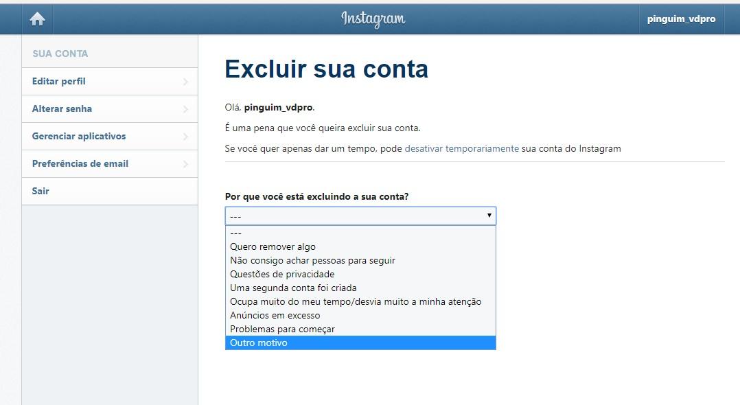como-usar-instagram-excluir-conta