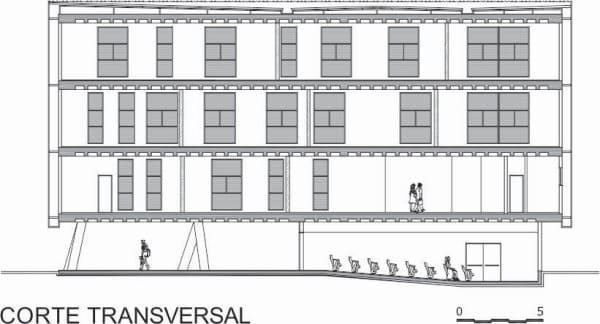 Anteprojeto de arquitetura: Planta de corte transversal