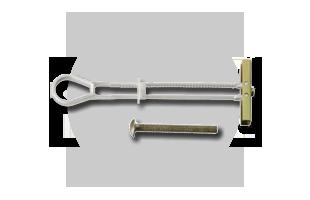 Como fixar objetos em parede drywall: Bucha para drywall tipo basculante ou Toggler bolt