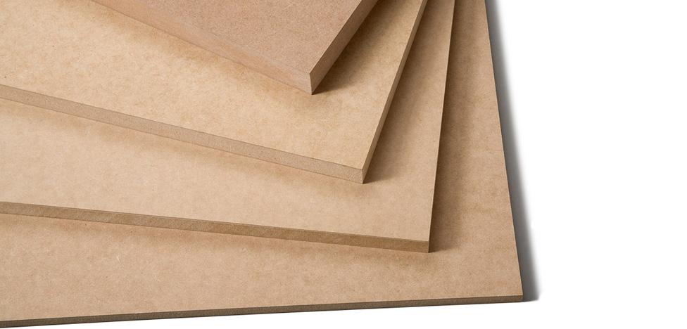 Tipos de madeira para painel: painel de madeira MDF (sem revestimento)
