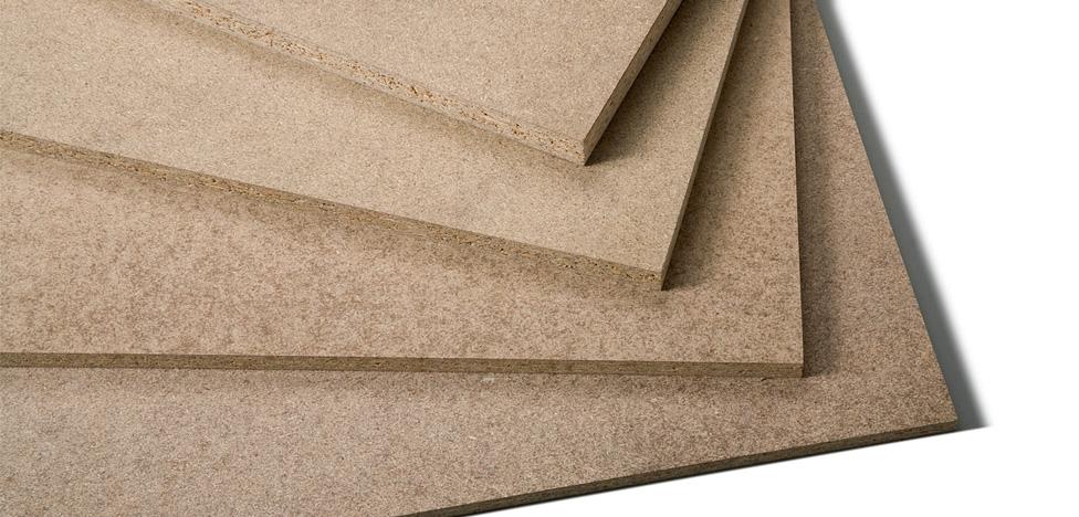 Tipos de madeira para painel: Painel de madeira tipo MDP (sem revestimento)