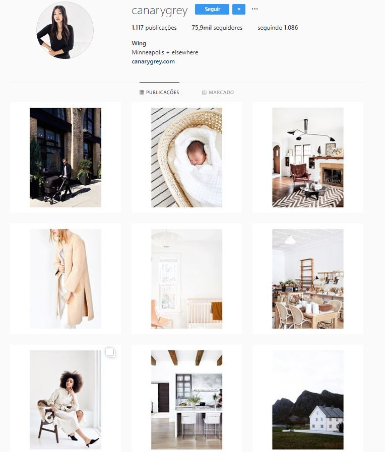 Instagram de design de interiores: @canarygrey