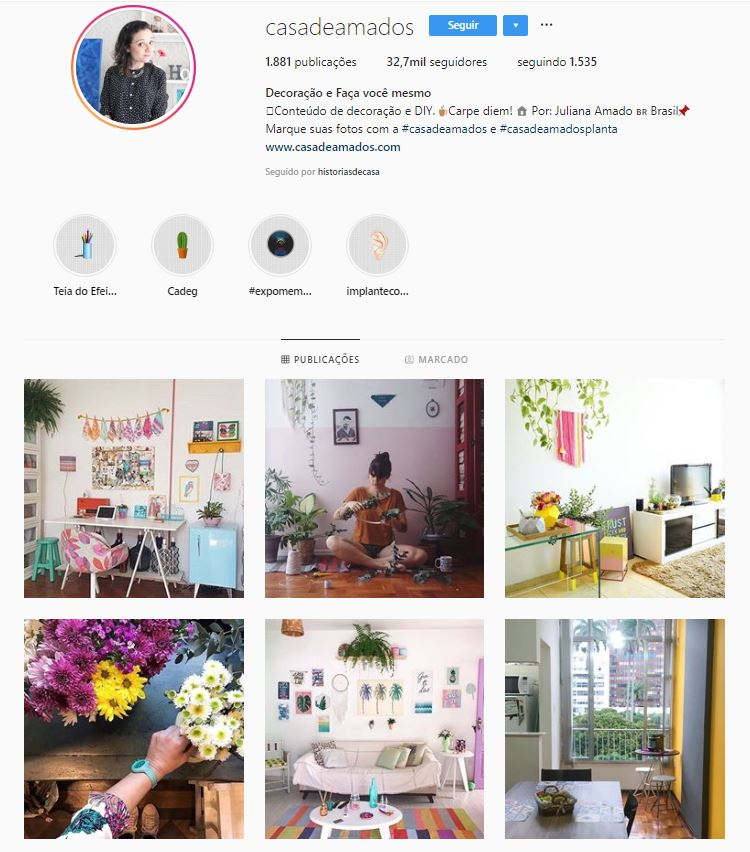 Instagram de design de interiores 17 perfis inspiradores for Foto interior design