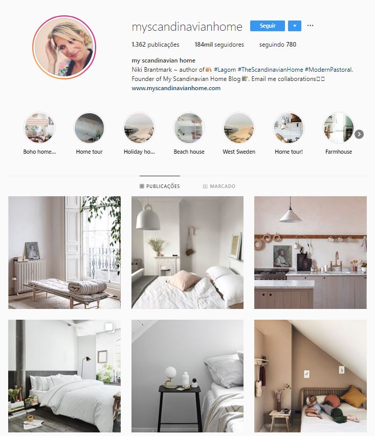 Instagram de design de interiores @myscandinavianhome
