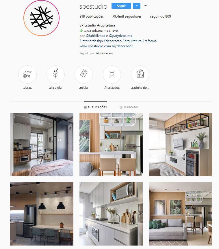 Instagram de design de interiores @spestudio