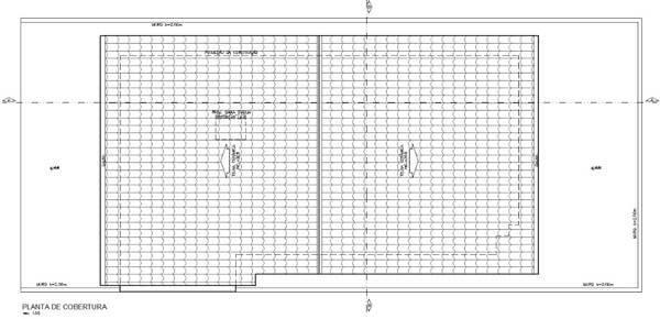 Anteprojeto de arquitetura planta de cobertura