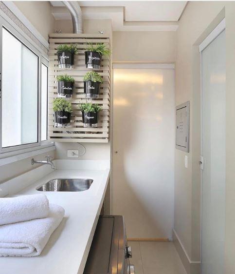 apartamento decorado horta na lavanderia