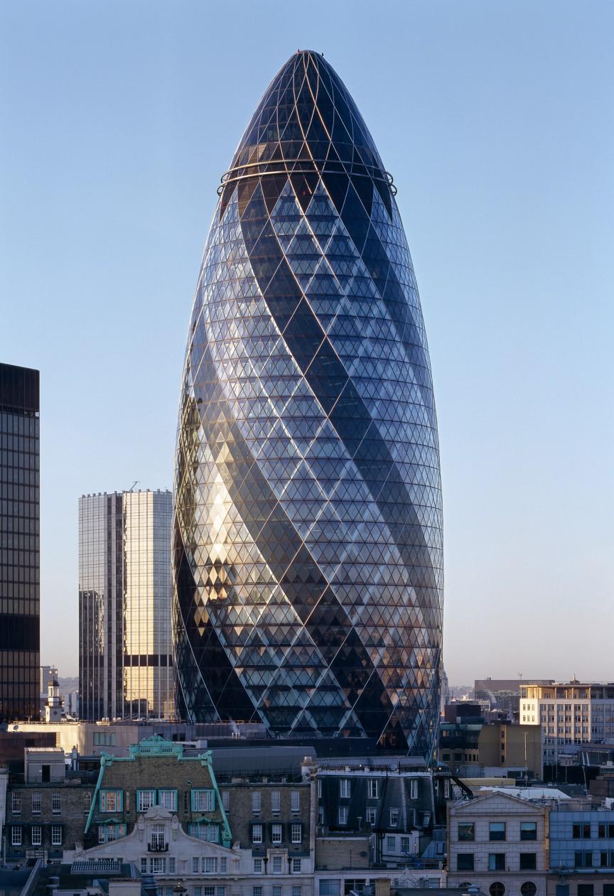 Arquitetura High Tech: 30 st mary axe