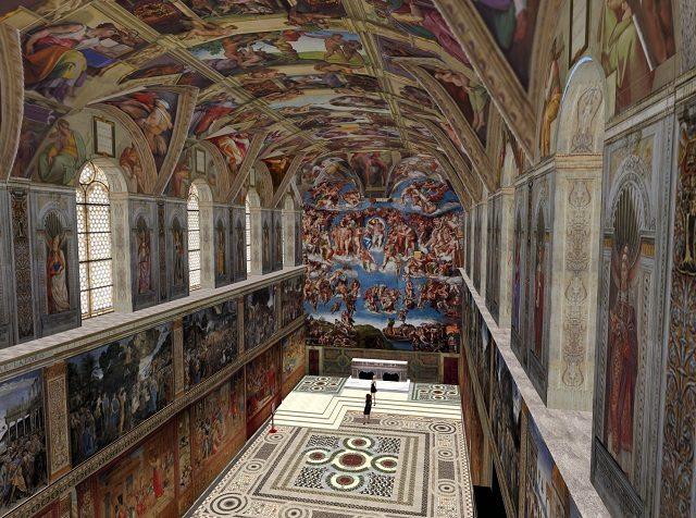 arquitetura italiana afrescos da capela sistina