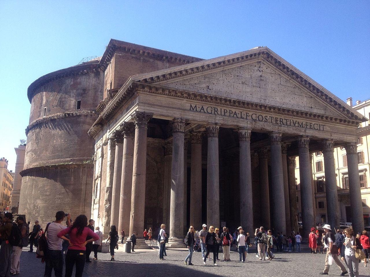 arquitetura italiana panteao de roma