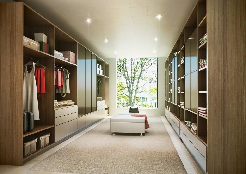 Iluminação de closet com spots