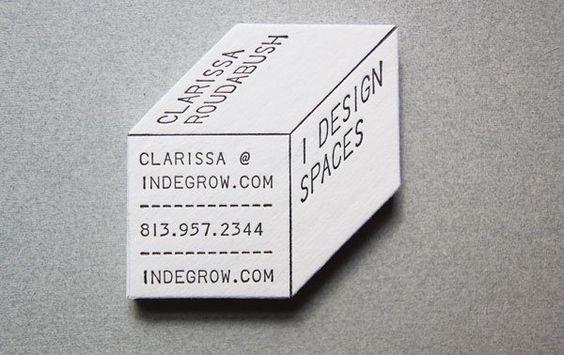 Cartão de visita design de interiores modelo 3D