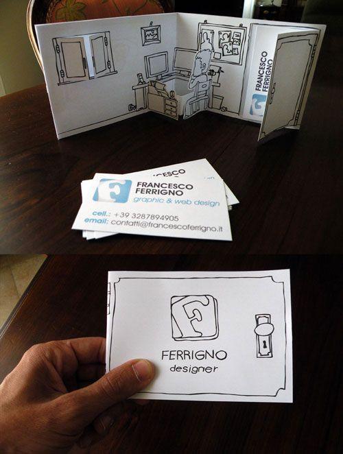 Cartão de visita design de interiores decoração quarto