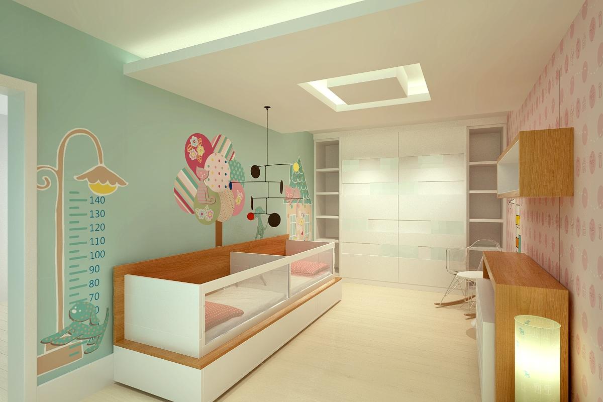 iluminação para quarto de bebê: luminária de piso
