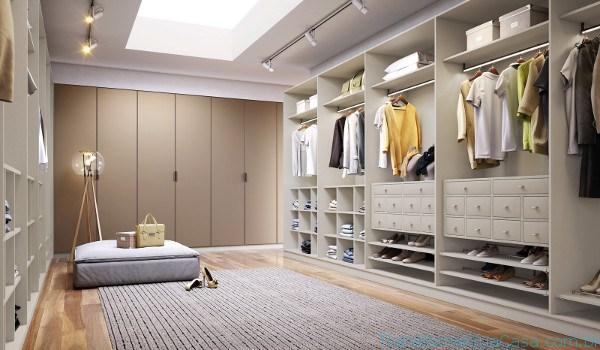 Iluminação de closet com trilhos