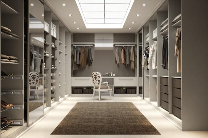 iluminação de closet com spot simples embutido