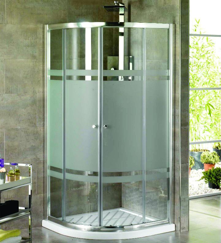 Ideias para box de banheiro: box com adesivo jateado