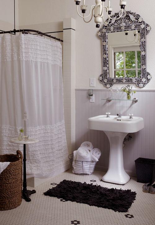 Ideias para box de banheiro: cortina