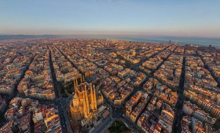 Áreas da arquitetura: planejamento urbano (Barcelona)