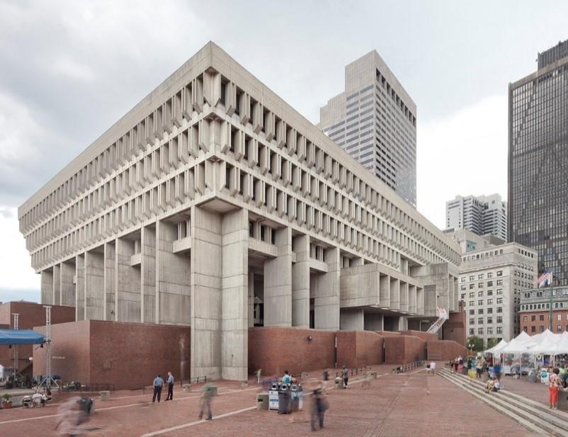 Arquitetura Brutalista: Prefeitura de Boston (EUA)
