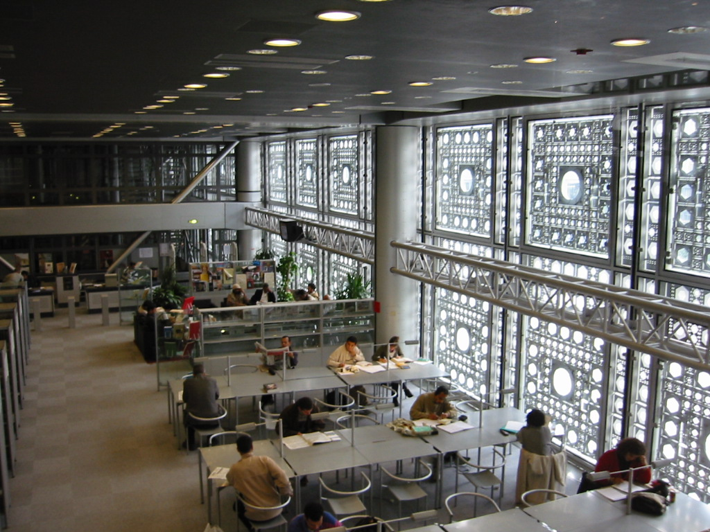 Jean Nouvel: Instituto do Mundo Árabe em Paris (interior)