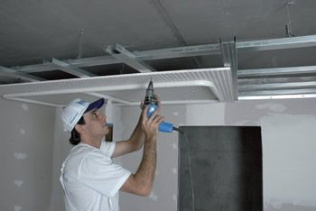 Diferença entre drywall e gesso: forro em sistema drywall