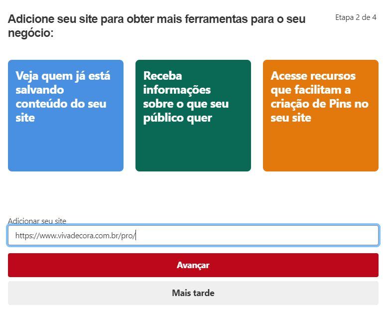 Pinterest para empresas: criando um perfil comercial (etapa 2)