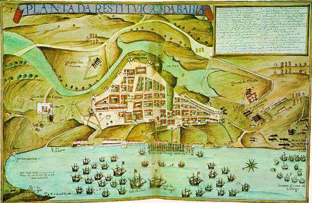 Arquitetura colonial: planta de Salvador (1631)