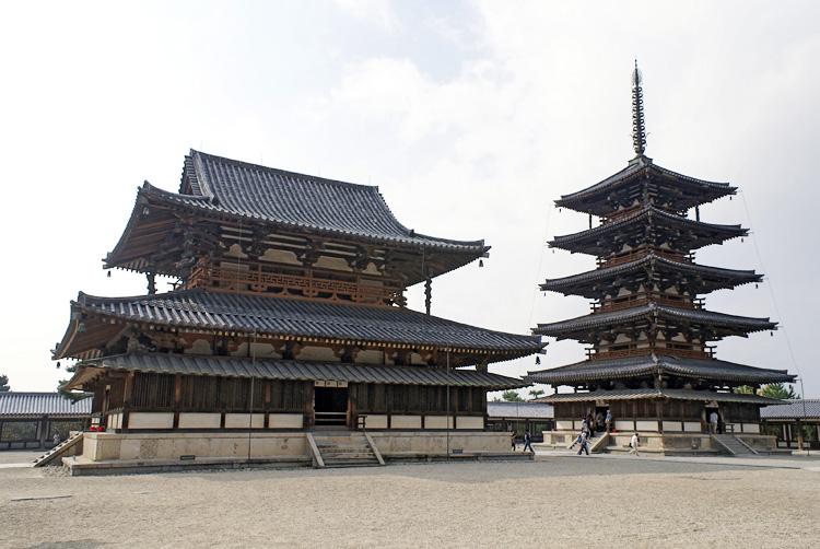 Arquitetura japonesa: templo Horyuji