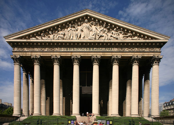 Arquitetura neoclássica: Igreja de la Madeleine