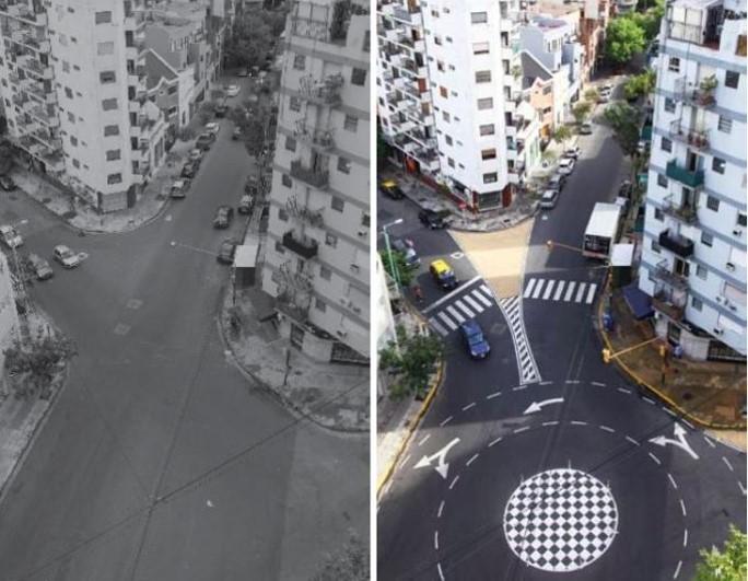 Desenho urbano: inclusão de rotatória em Buenos Aires