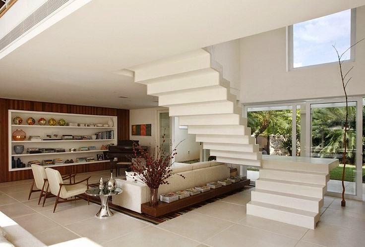 Tipos de escadas: escada cascata