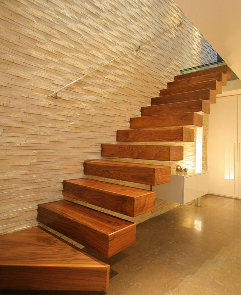 Tipos de escadas: escada flutuante