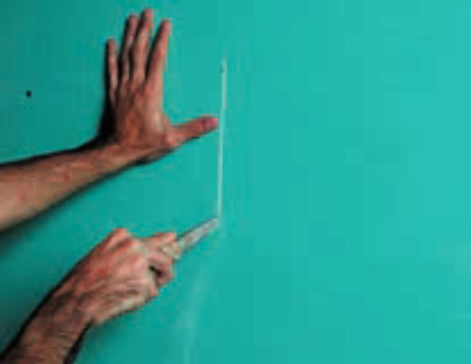 Como reparar drywall: Passo 2 - Corte da chapa