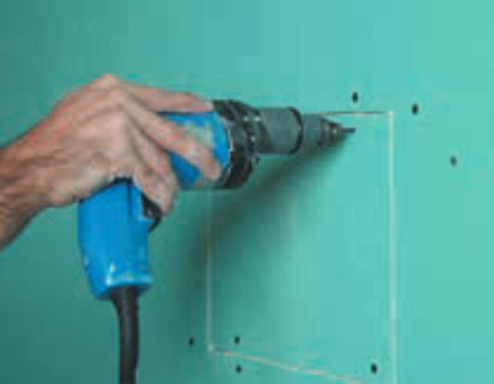 Como reparar drywall: Passo 5 - Fechamento da abertura