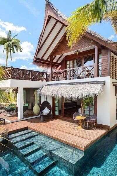 Projeto de Casa de Praia: cobertura de palha