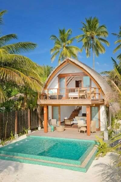 Projeto de Casa de Praia: cobertura em formato de cúpula