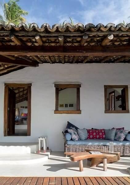 Projeto de Casa de Praia: estilo rústico traz charme