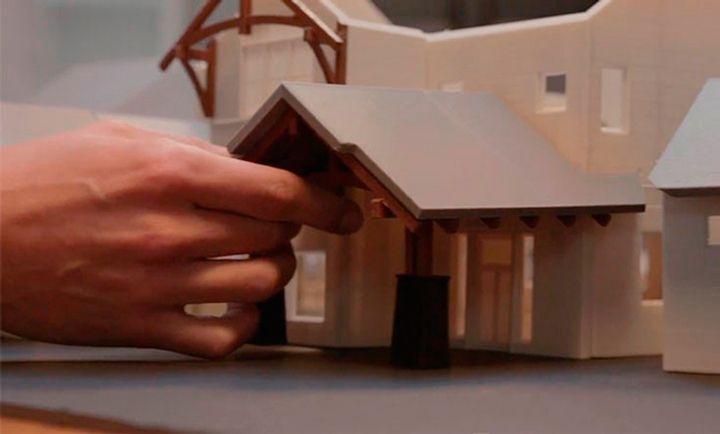 Maquete de arquitetura: colagem