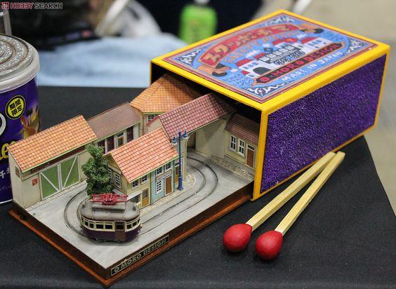Maquete de arquitetura: mini maquete na caixa de fósforo